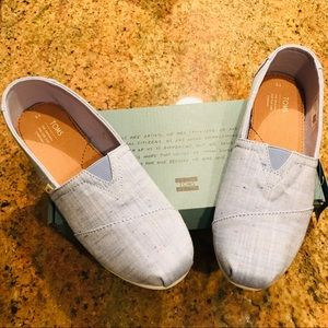 Toms Shoes - New TOMS light jean colored slip on shoes.